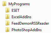 Put all your downloaded software into separate folders